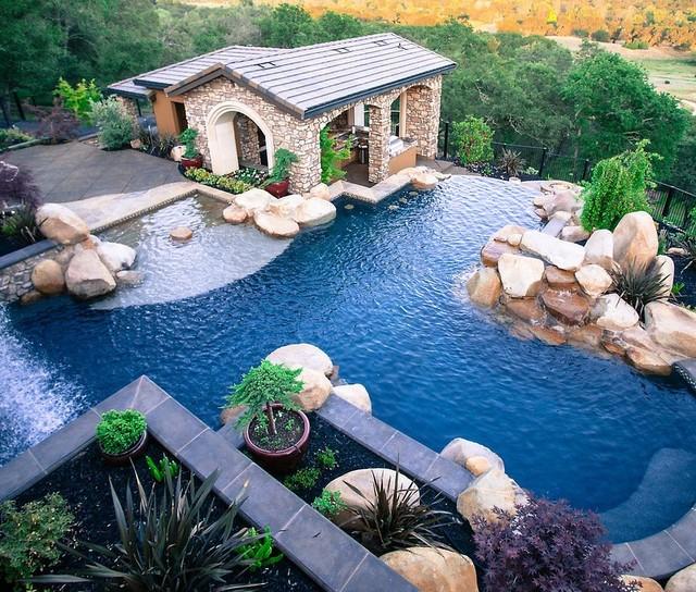 Granite Bay contemporary-pool