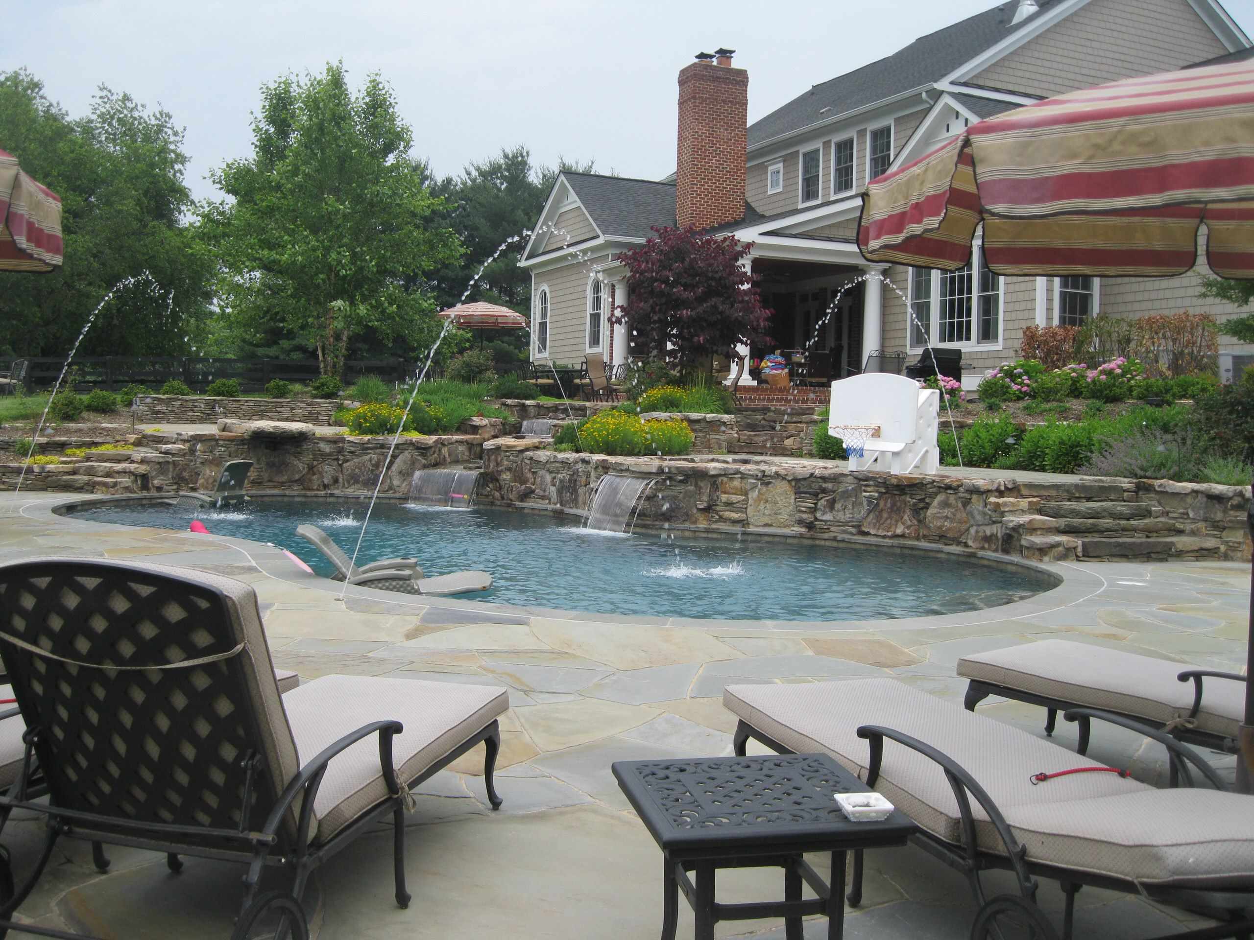 Great Falls master plan with pool.