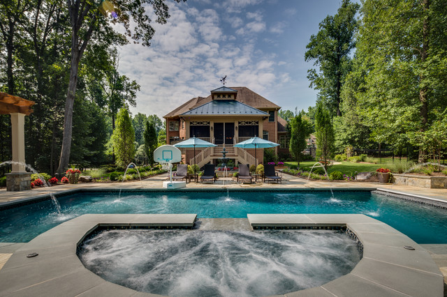 Great falls virginia remodel traditional pool dc for Pool design virginia