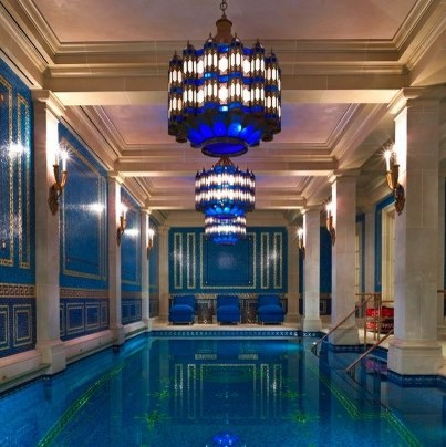 Grecian Indoor Pool - Mediterranean - Pool - Dallas - by Pool ...