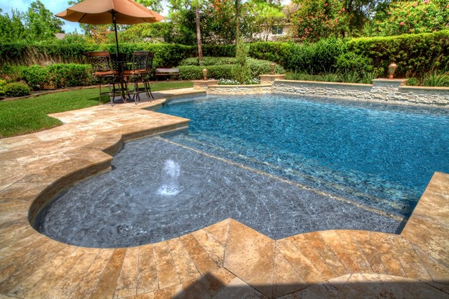 Grecian roman style pool 1 pool houston by for Roman style pool design
