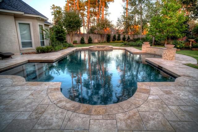Grecian Roman Style Pool 2 With Spa Lehcontemporary Houston
