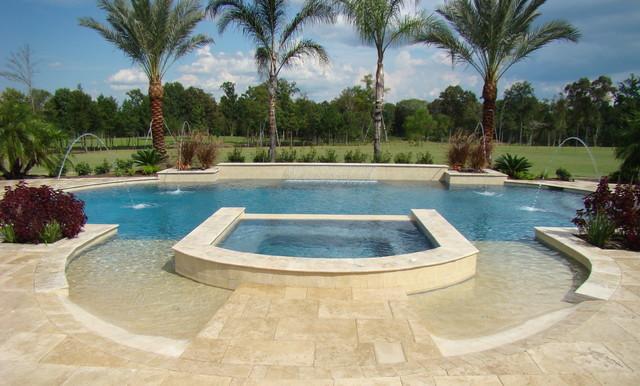 Grecian shaped pool mediterranean pool houston by for Pool design houston tx