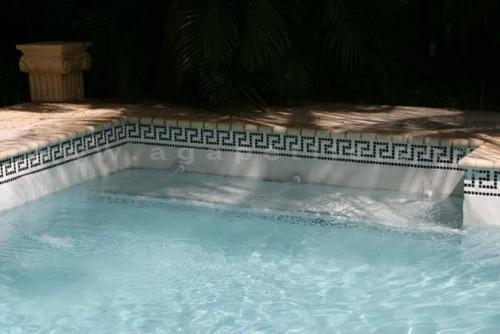 Greek Key Pool Tile
