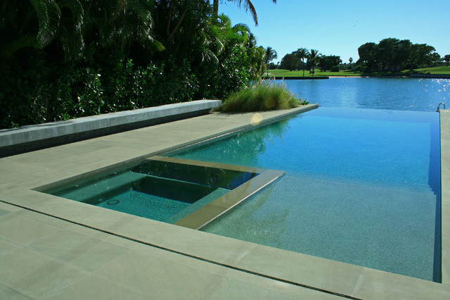 Green contemporary modern pool miami by lewis for Pool design miami