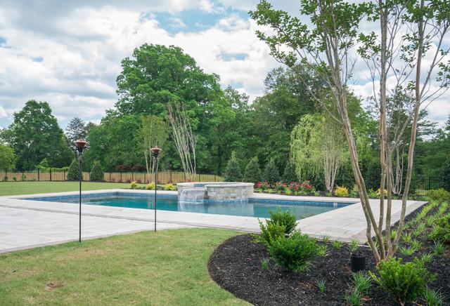 Greenville sc custom modern southern plantation for Pool design greenville sc