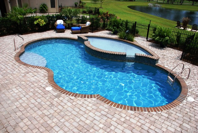 Grey Fiberglass Pool - Traditional - Pool - wilmington - by Hampstead Pool, Spa & Patio Inc.