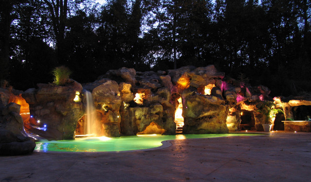 Grotto eclectic-pool