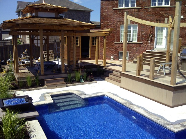 H g t v decked out zen deck pool for Zen pool design