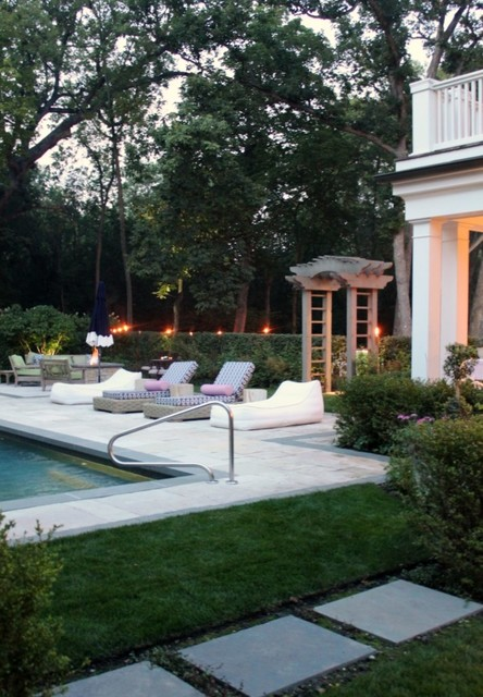 Hamptons style landscape beach style pool chicago for Pool design hamptons