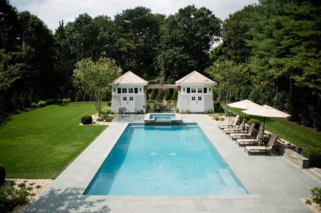 Hamptons swimming pool patio renovation for Pool design hamptons
