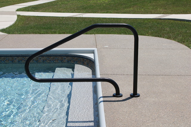 Hand Rails Ladders Modern Pool Indianapolis By Angie 39 S Pool Spa Inc