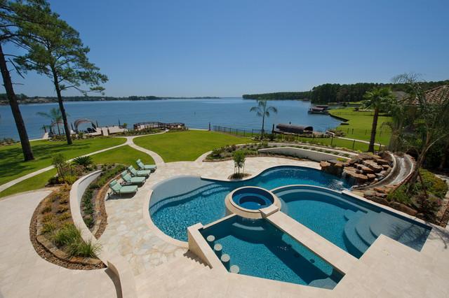 Harbor Breeze Lake Home Mediterranean Pool Houston By Gary Keith Jackson Design Inc