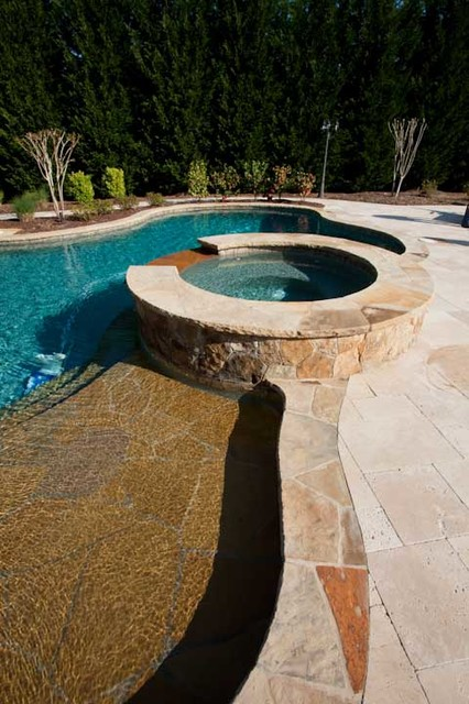 Hardscape Charlotte NC traditional-pool