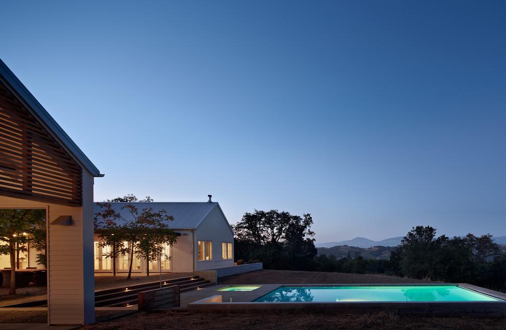 Pool - cottage backyard pool idea in San Francisco