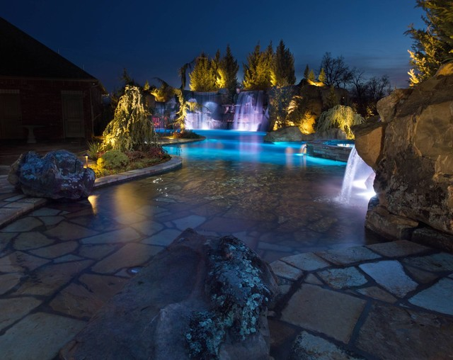 Swim Through Grottos, Lazy River & Waterfalls Highlight This Oklahoma Pool pool