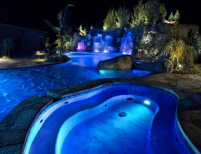 HGTVs Cool Pools Scuba Pool Swim Through Grottos Lazy River And Waterfalls Rustic Pool Oklahoma City on rustic living rooms hgtv