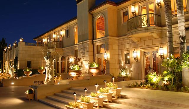 High end landscape design mediterranean pool san for High end landscape design