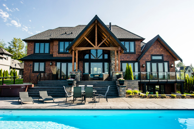 High Point Estates, Langley, BC contemporary-pool