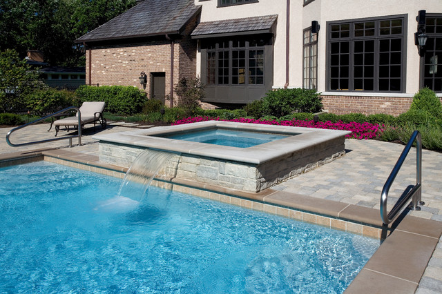 Highland Park Il Swimming Pool And Raised Hot Tub
