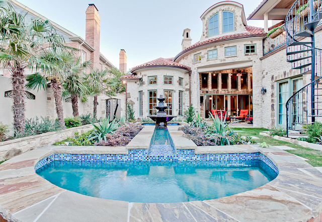 Highland Park Spanish Mediterranean Design Mediterranean Swimming Pool Hot Tub Dallas