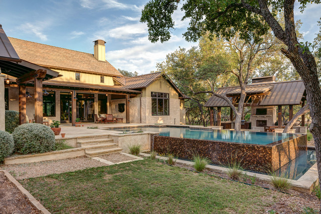 Hill country farmhouse farmhouse pool austin by for Hill country house plans luxury