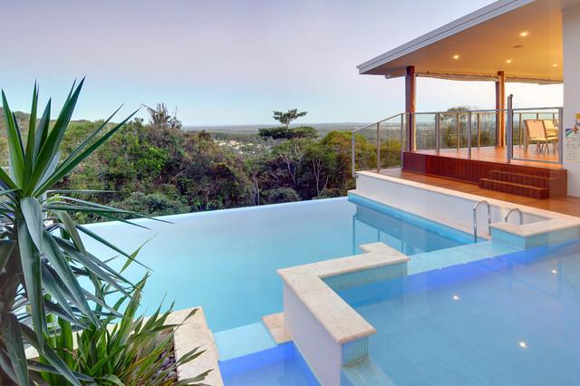 Hillside Home Buderim Contemporary Pool Sunshine Coast By Soul Space