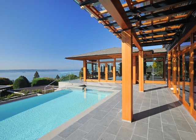 Hillside house contemporary pool vancouver by don for Pool design vancouver