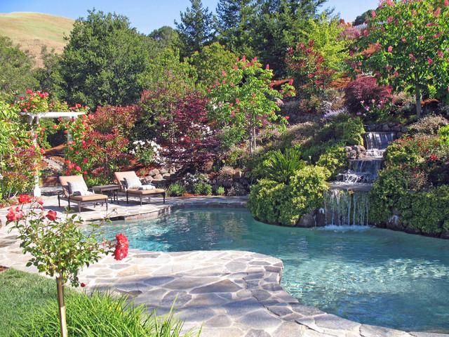 Hillside landscape · Natural · Hillside Swimming Pool and Spa ...