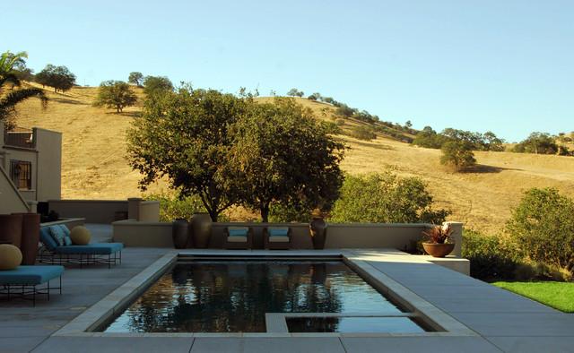 Hillside spanish mediterranean pool sacramento by for Pool design hillside