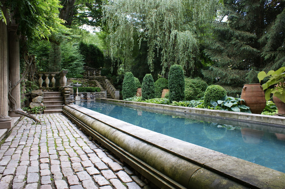 Inspiration for a timeless lap pool remodel in New York