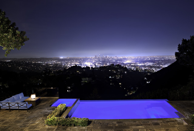 Hollywood Hills Exterior Traditional Pool Los