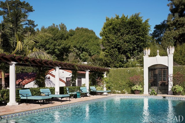 Hollywood Hills Historic Spanish Revival Style Swimming
