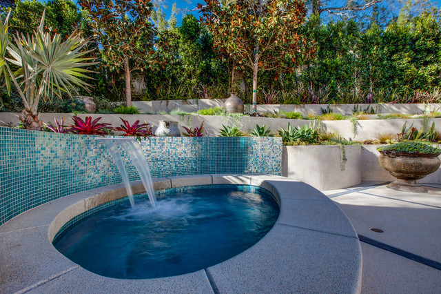 Hollywood hills landscape design project contemporary for Pool design los angeles