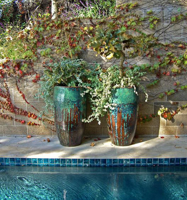 hollywood hills pool mediterranean-pool