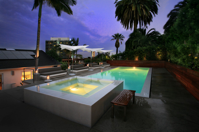 Hollywood Hills Pool Spa And Outdoor Living Contemporary Pools Hot