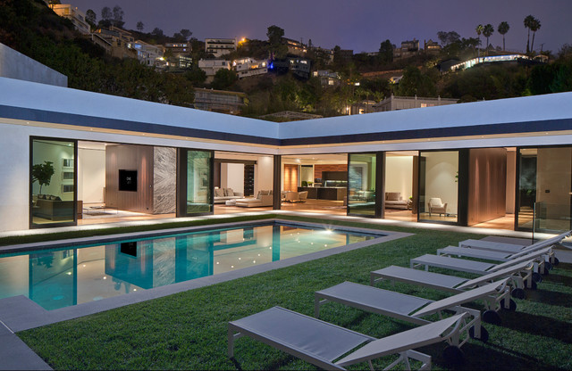 Hollywood hills remodel for Swimming pool demolition los angeles