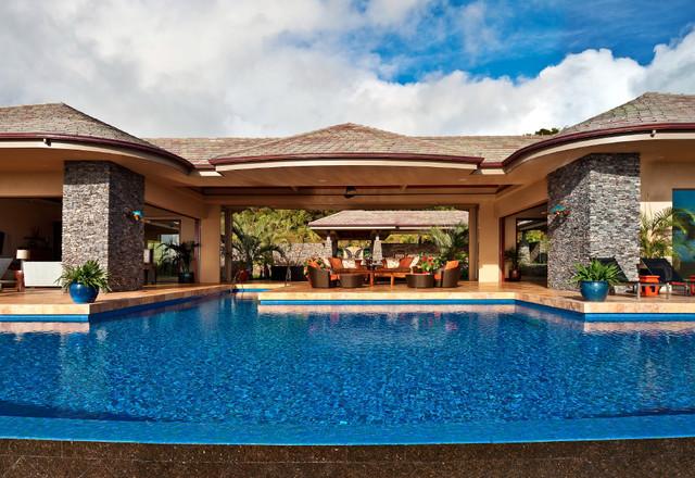Honolua ridge maui residence tropical pool hawaii for Demaria landtech