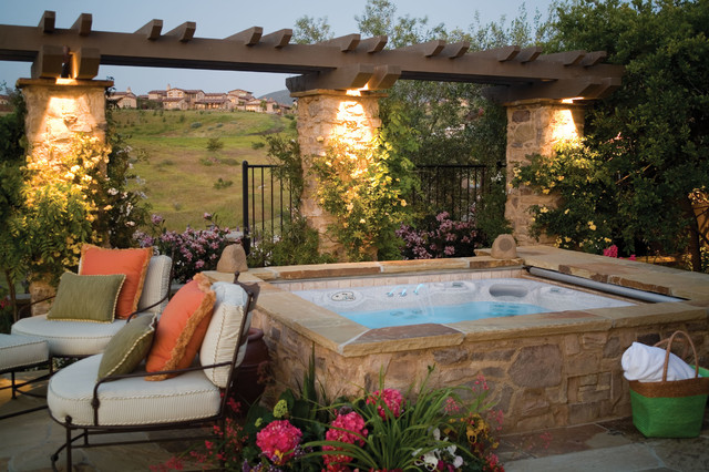 Spa Pool Ideas 30 best images about swim spa install ideas on pinterest Hot Spring Highlife Collection Mediterranean Pool