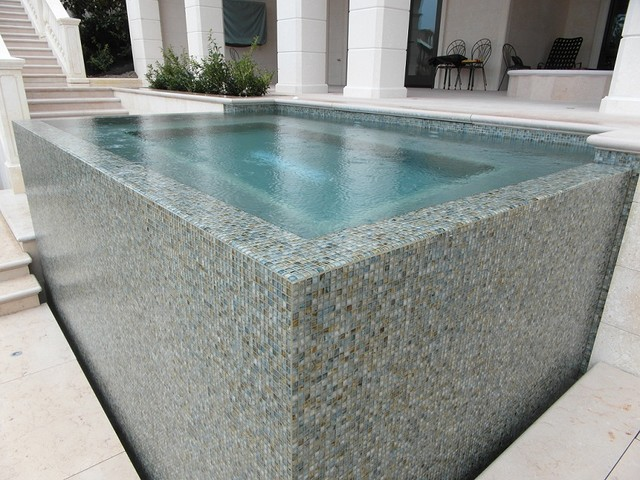 Hot Tub Mosaic Contemporary Pool Vancouver By Tavo