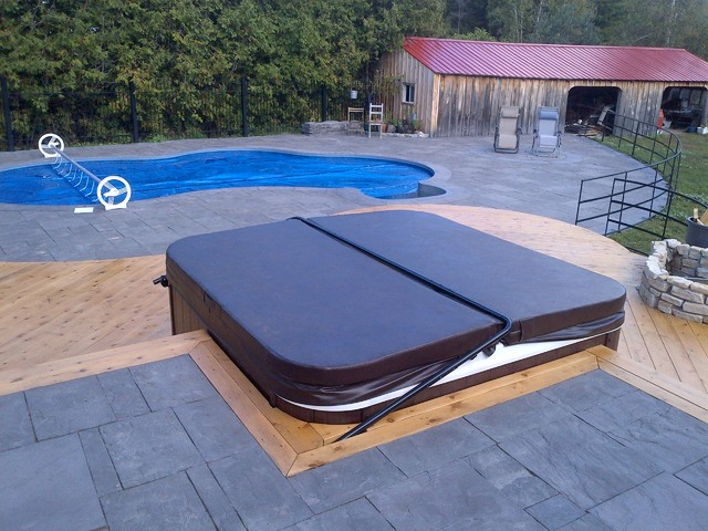 Hot tubs and spas for Installateur de piscine