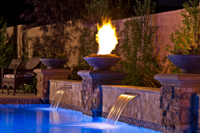 Hough Mediterranean Pool Orange County By Solage Landscape Exteriors