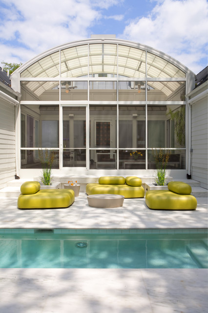 House of Light: Chevy Chase, Maryland Home inspired by Hugh Newell Jacobsen transitional-pool