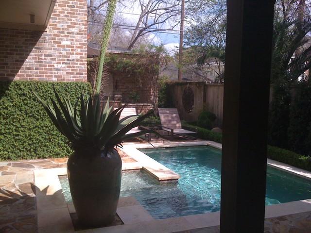 Houston New Construction contemporary-pool