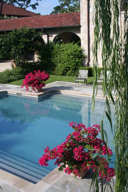 Houston Rustic mediterranean-pool