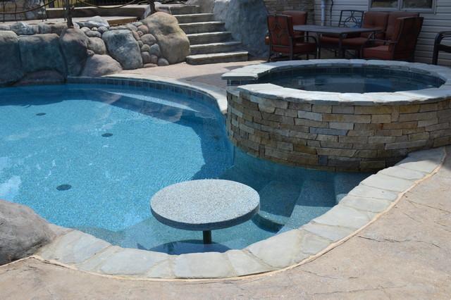 Hybrid Swimming Pool - Saline, MI - {DEV} traditional-pool