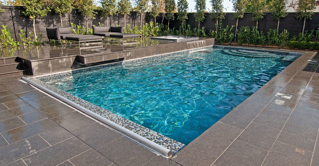 Hydramatic Automatic Safety Pool Cover Contemporary Pool San Francisco By Aquamatic
