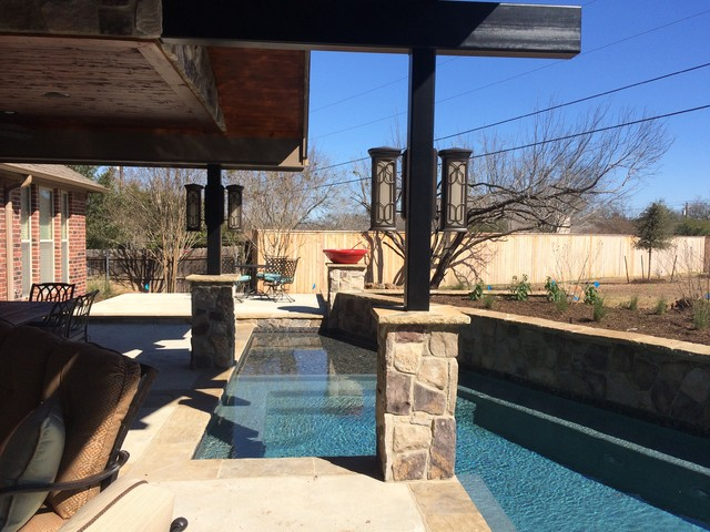 I'm Staying Outside contemporary-pool