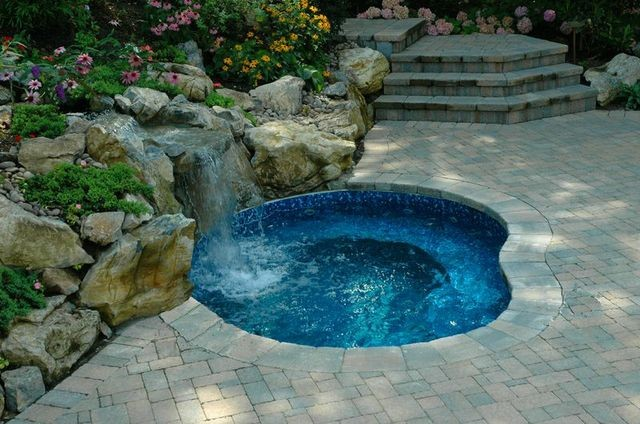 In Ground Spa Modern Pool New York By Long Island Hot Tub Hot Tub And Pool Experts
