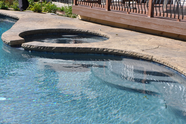 In Ground Swimming Pool With Flush Spa